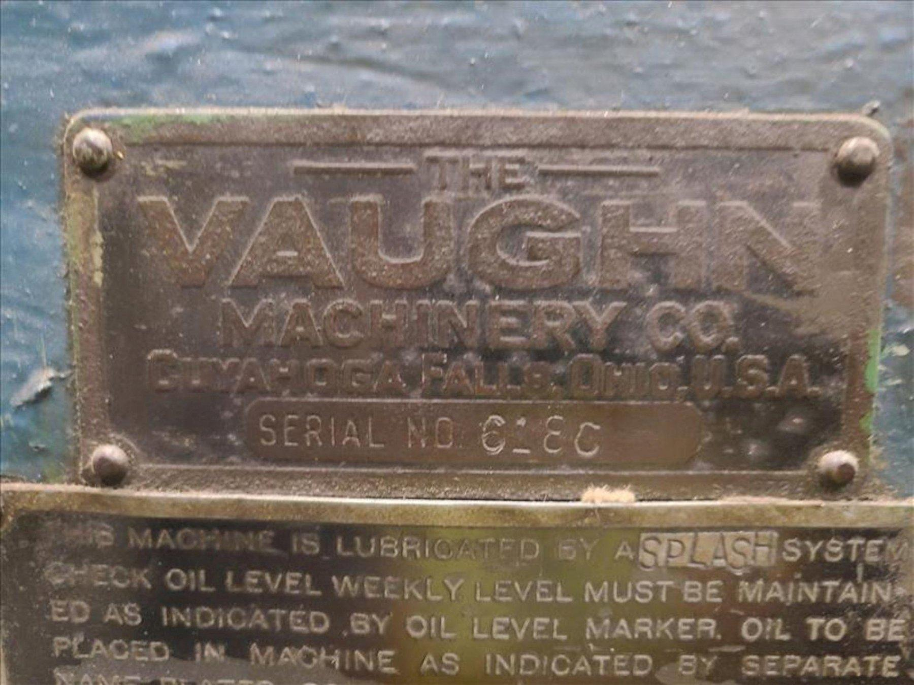 50,000 LB VAUGHN SINGLE/DOUBLE DRAW BENCH: STOCK #13578
