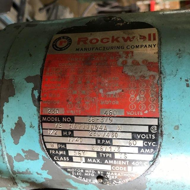 2 HEAD ROCKWELL MODEL #15-665 GANG DRILL: STOCK #10595