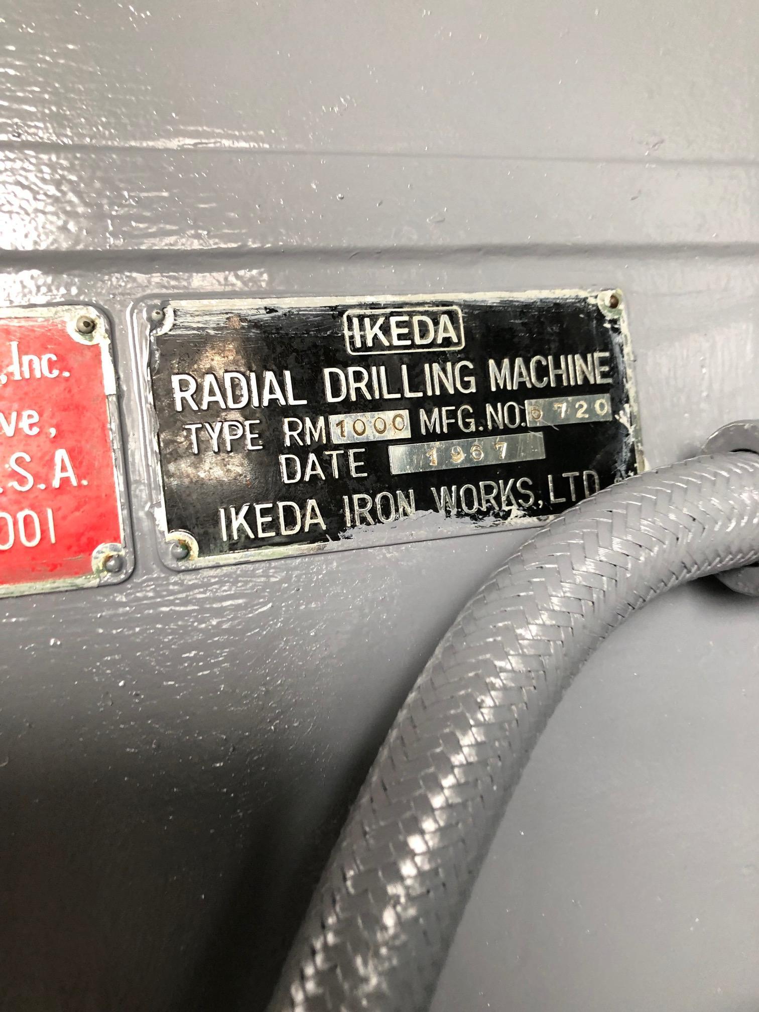 "3'6"" x 11"" IKEDA RM1000 RADIAL ARM DRILL PRESS: STOCK #10468"