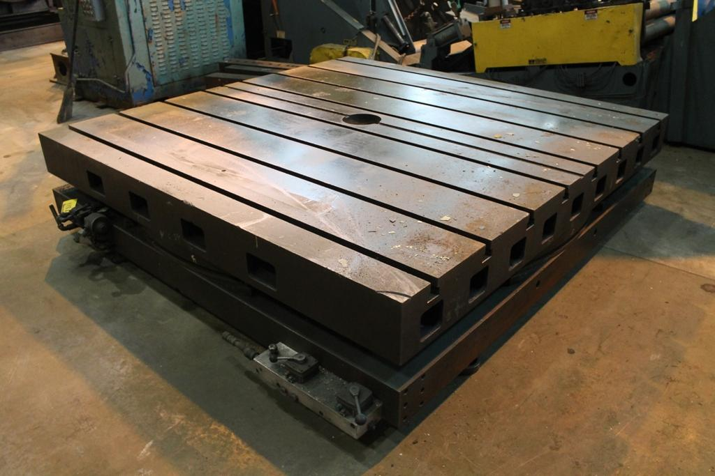 """96"""" X 96"""" GIDDINGS & LEWIS ROTARY AIR LIFT TABLE: STOCK #10946"""
