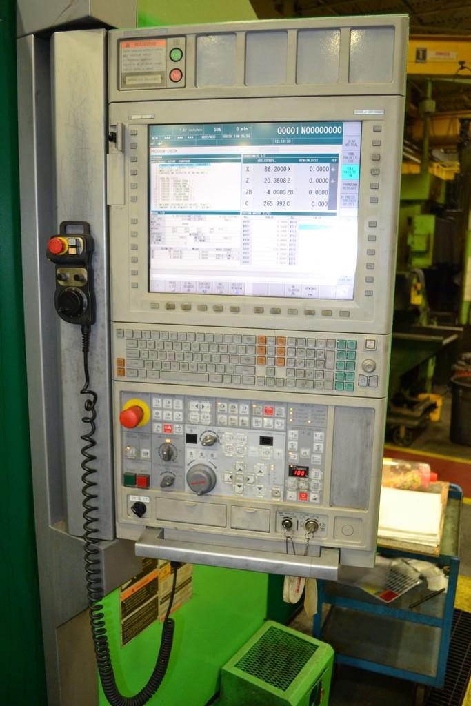 "53"" Mori Seiki NVL 1350MC, 40 ATC, 63"" Swing, 43"" Turning Hght., C-Axis, Live Milling, 60 HP, #30477"