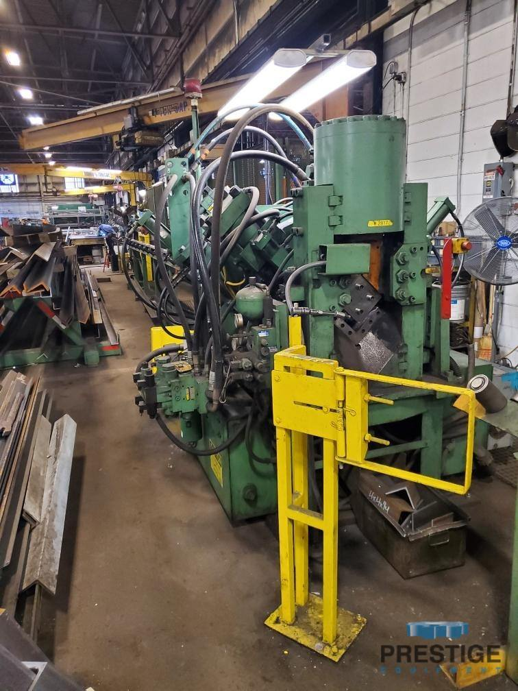 """Peddinghaus AFPS 623M 6"""" x 6"""" x 1/2"""", 80 Ton Punch Capacity, 250 Ton Shear Capacity, 40' Infeed, Low Hours, #31145"""