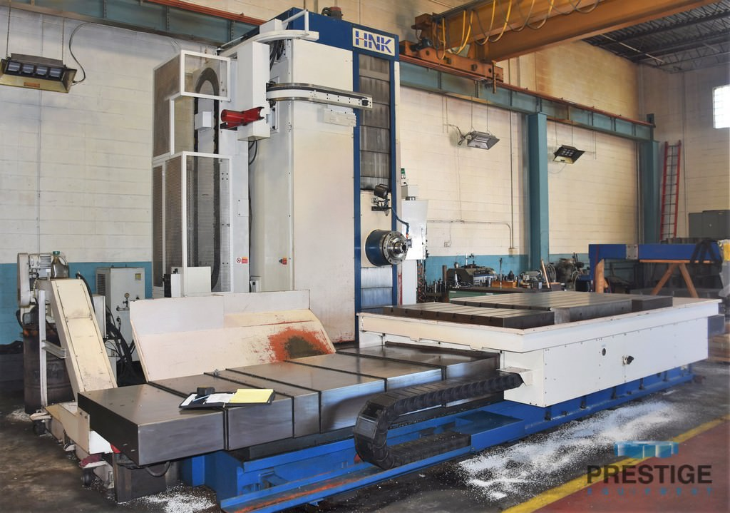 """HNK HB-130, X-118"""", Y-78"""", Z-51"""", W-27"""", 2,500 RPM, 55""""x 55"""" Rotary & 55"""" x 118"""" Combo Table, Fanuc 16-M CNC, #31203"""