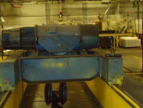 15 Ton, 22' Span, DeMag Overhead Double Girder Bridge Crane, Stock #62079