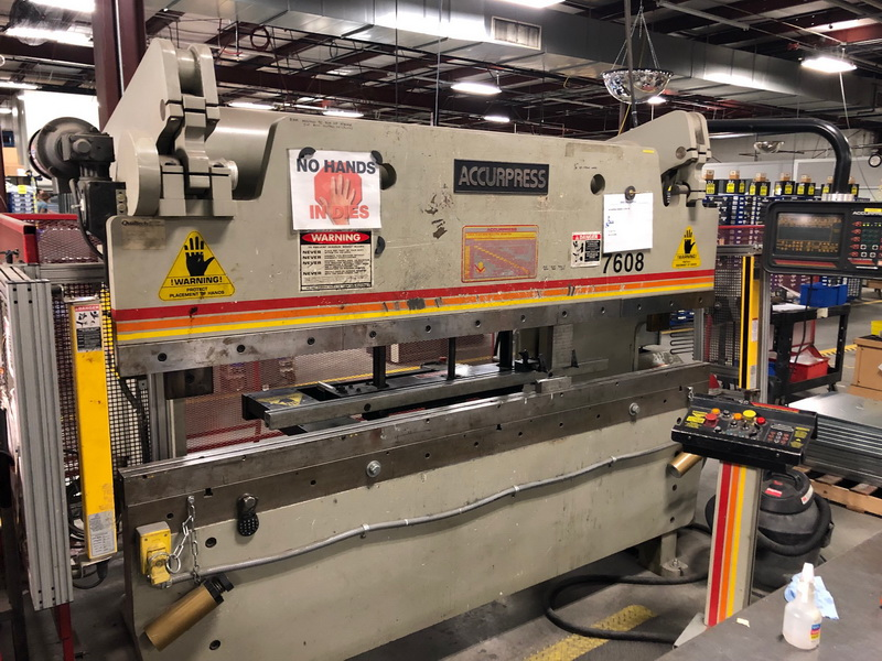 "60 Ton x 96"" ACCURPRESS 7608 Hydraulic Brake Press w/CNC BG"