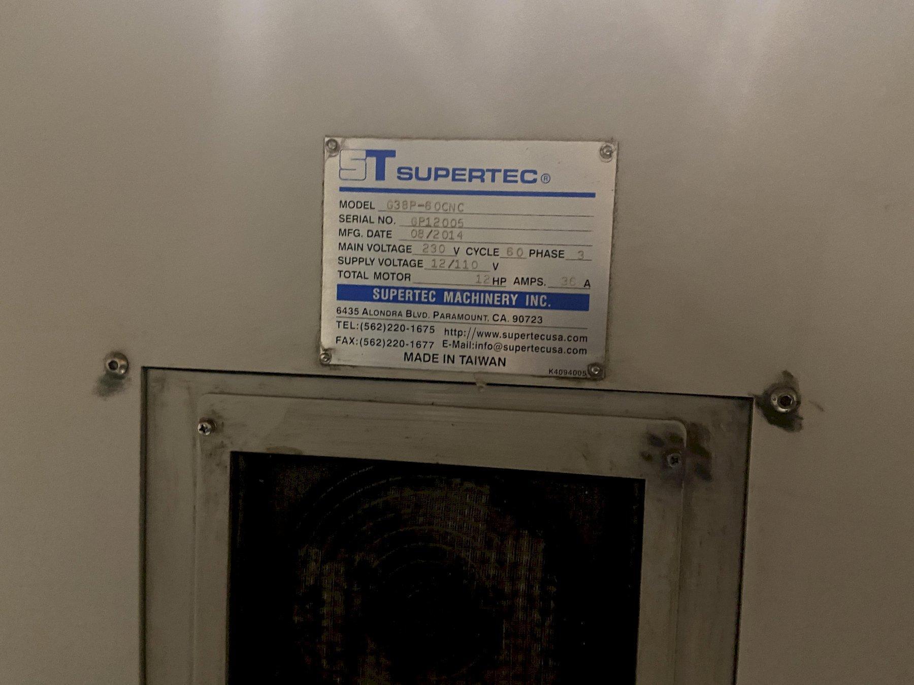 "Supertec G38P-60CNC Cylindrical Grinder, Fanuc 0iMC, 15"" Swing, 24"" Centers, 18"" Wheel Dia., Chi"