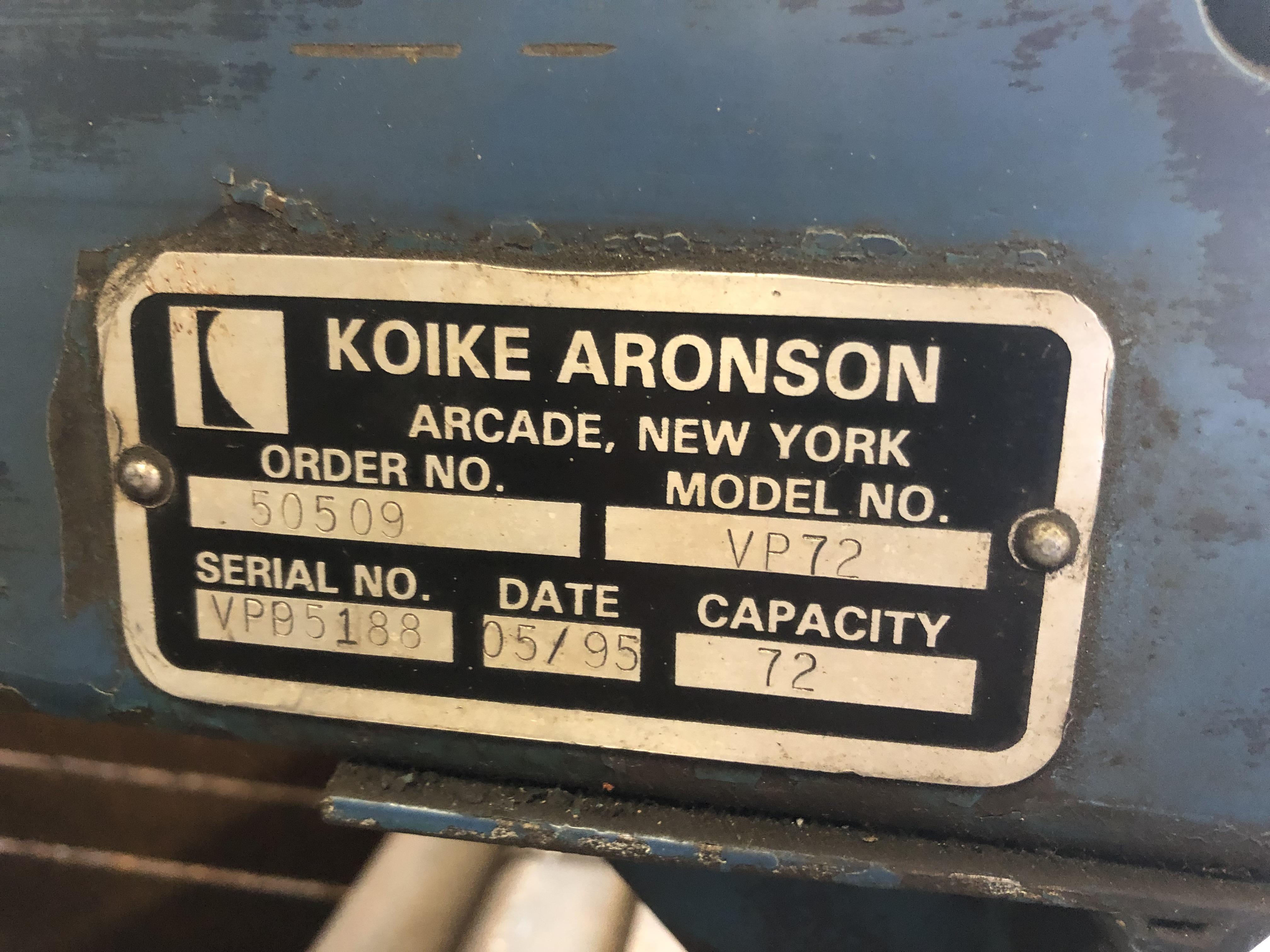6' X 12' KOIKE ARONSON MODEL VP72 PLASMA TABLE: STOCK #10732