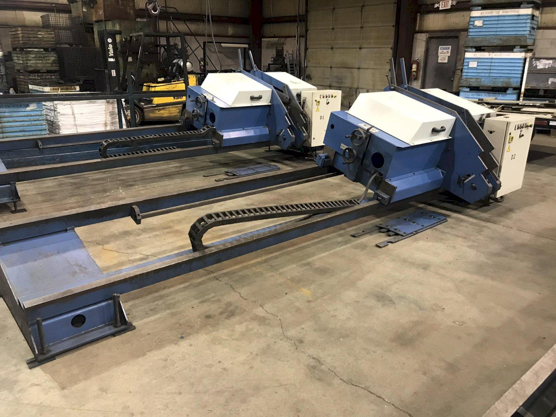 "USED SIMEC ADJUSTABLE LENGTH 4"" WIRE BRUSH DEBURRING MACHINE, MODEL SB3000S, Stock No. 10686, Year 2002"