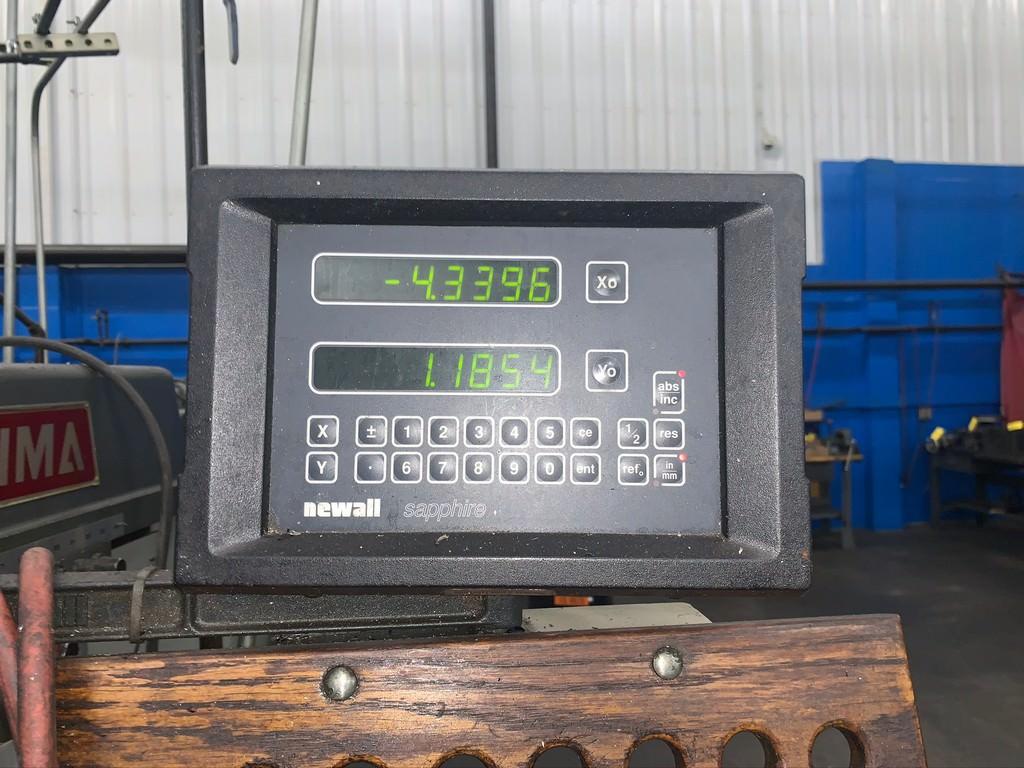 """Acer Ultima, 10"""" x 50"""" Table, X-36"""", Y-15.75"""",Z-24"""", 3 HP, 60-4200 RPM, Newall DRO, 1997, #30419"""