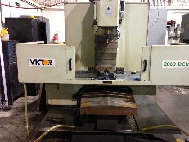 """Victor 2063DCM CNC Vertical Mill, 20"""" X 63"""" Table"""