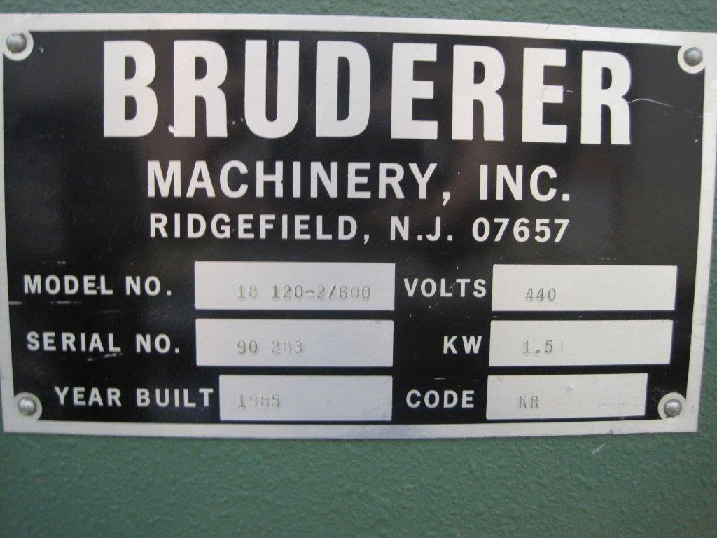 "1322 Lb. Bruderer 18-120-2/600, 4.7"" X .079"", 19 Rolls, 1985"