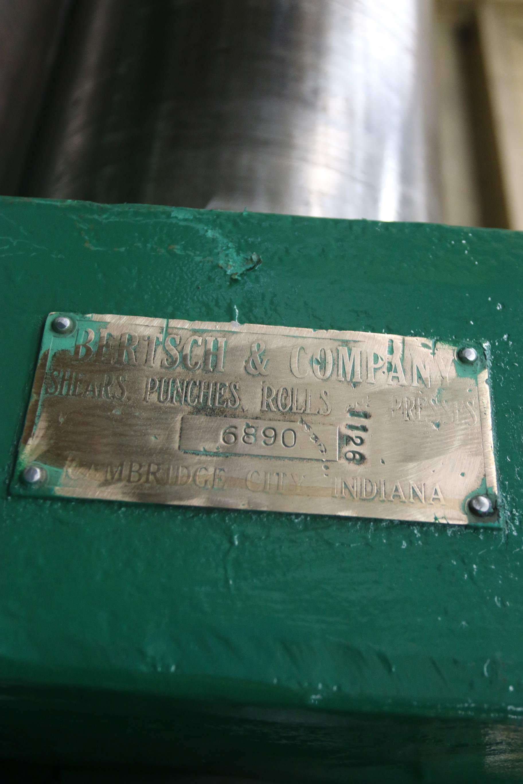 """12' X 1/2"""" BERTSCH MODEL #11 INITIAL PINCH PLATE ROLLS: STOCK #10253"""