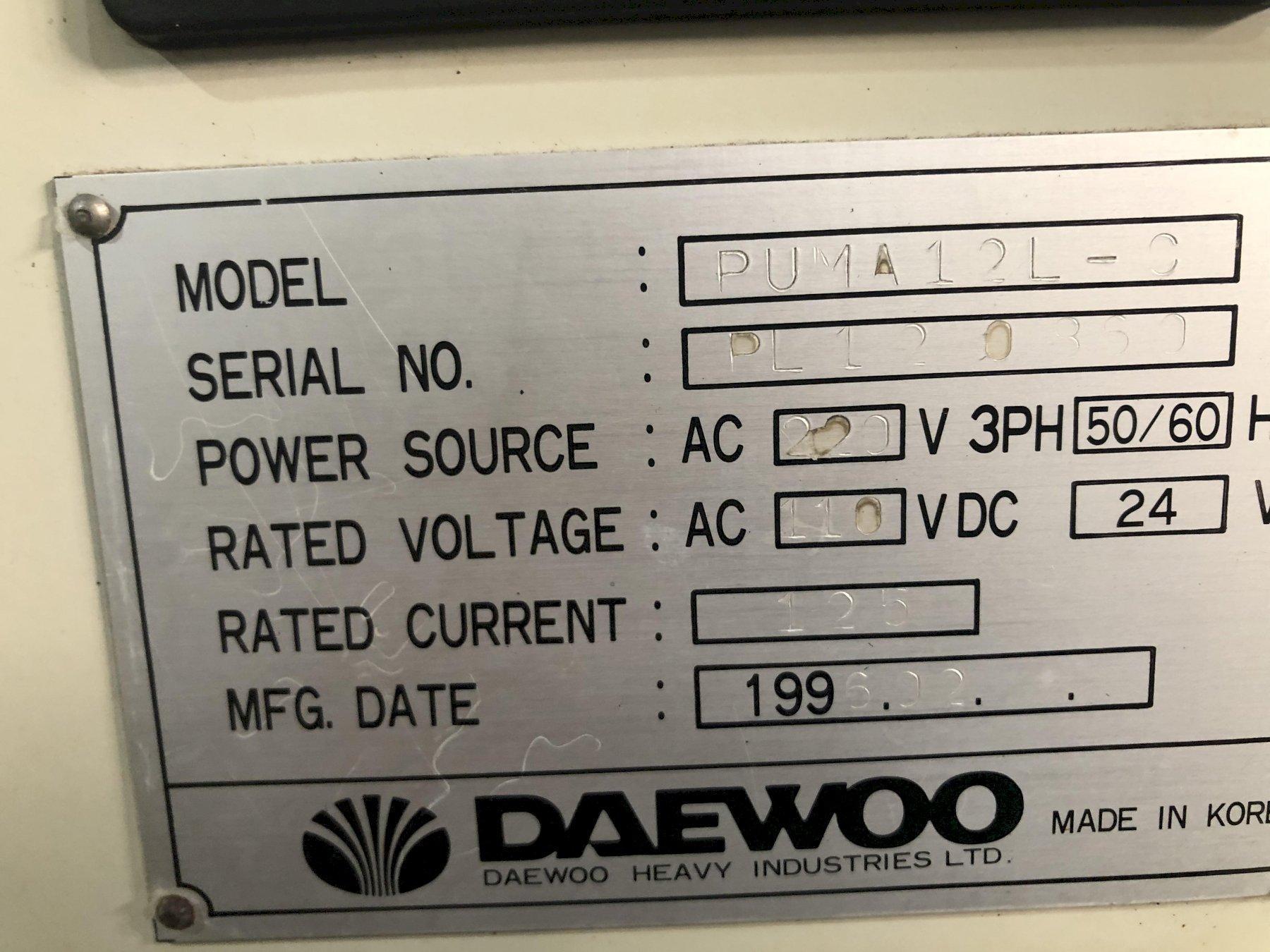 Daewoo Puma 12L-C CNC 2-Axis Turning Center