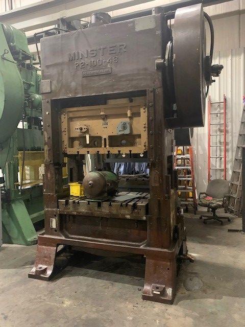 "Reconditioned Minster 100 Toln SSDC, Model P2-100-48 Piecemaker, SN 16534, 4"" Stroke, 80-160 SPM, SH 20"", Stk# 1253"