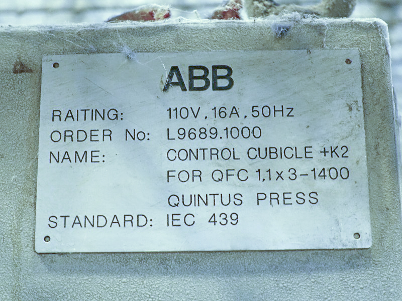 ABB Quintus fluid cell press, used (1988) located in Brough, UK