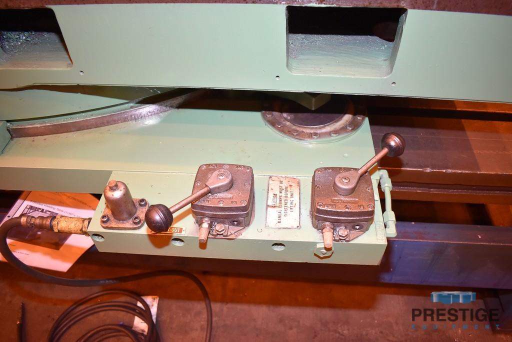 "60"" X 84"" Giddings & Lewis Air Lift Rotary Table, 25,000 Lb Capacity, 4-Position Shot Pin, #31108"