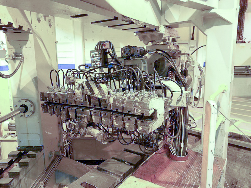 Hufford A46 Stretch Forming Machine, used. Located in Brough, East Yorkshire, UK. Offered on online auction.