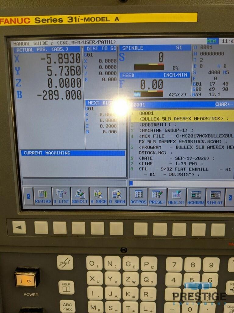 "FANUC Robodrill Alpha T14iFe 4-Axis, X-19.68"", Y-15.74"" 10,000 RPM, Fanuc 31iA CNC, 14 ATC, 4th Axis Table, 2008, #31111"