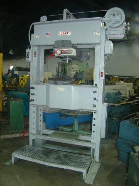 """150 Ton Dake No 5-150, 16"""" Stroke, Elec-Hydraulic I, 2 HP, 48"""" Bed, (6856)"""