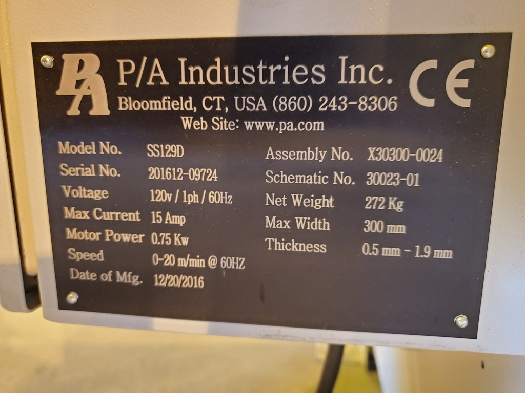 PA Industries Stock Straightener