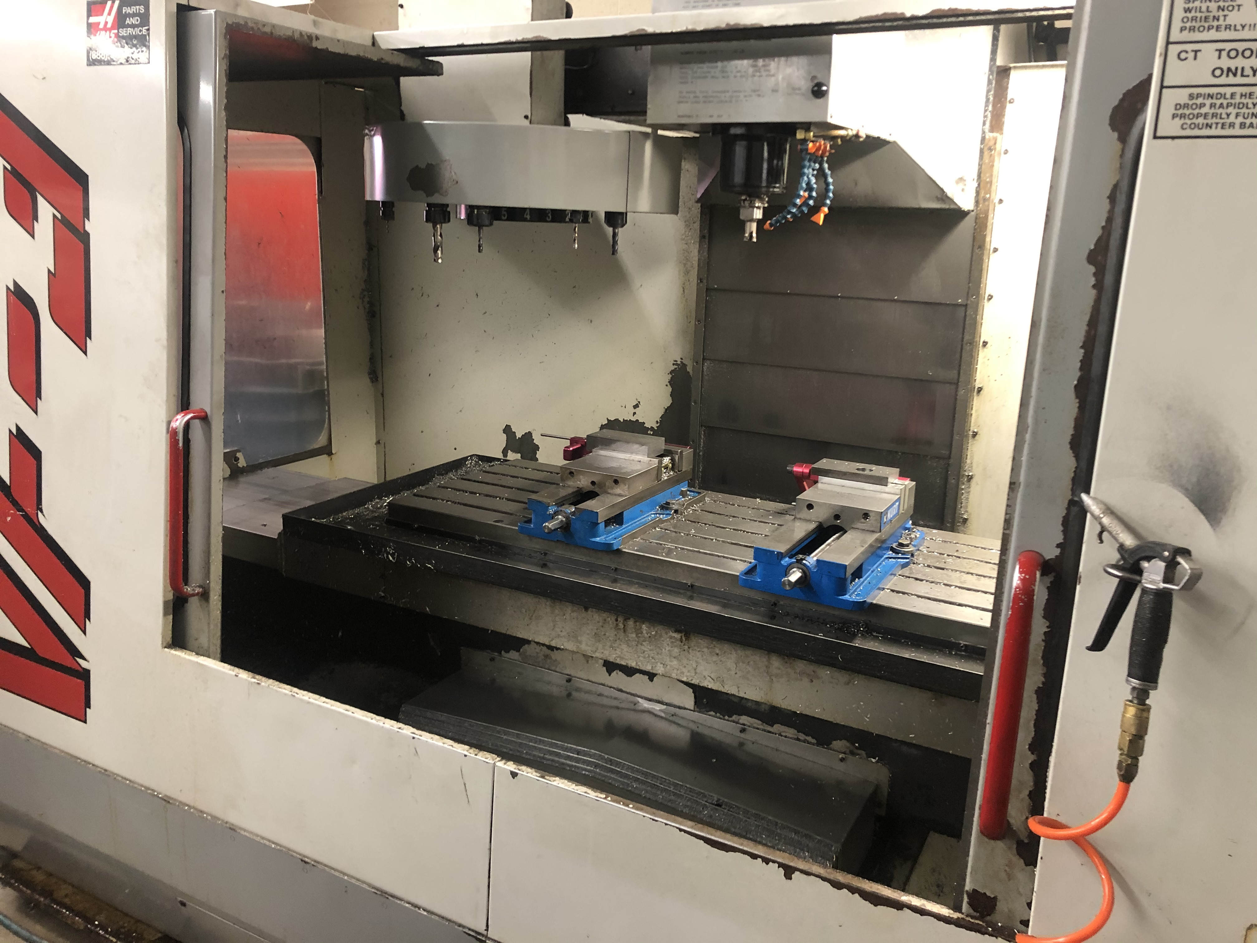 1997 3 Axis Haas VF3 with wiring for 4th Axis, PLR Electronics Floppy to USB Conversion