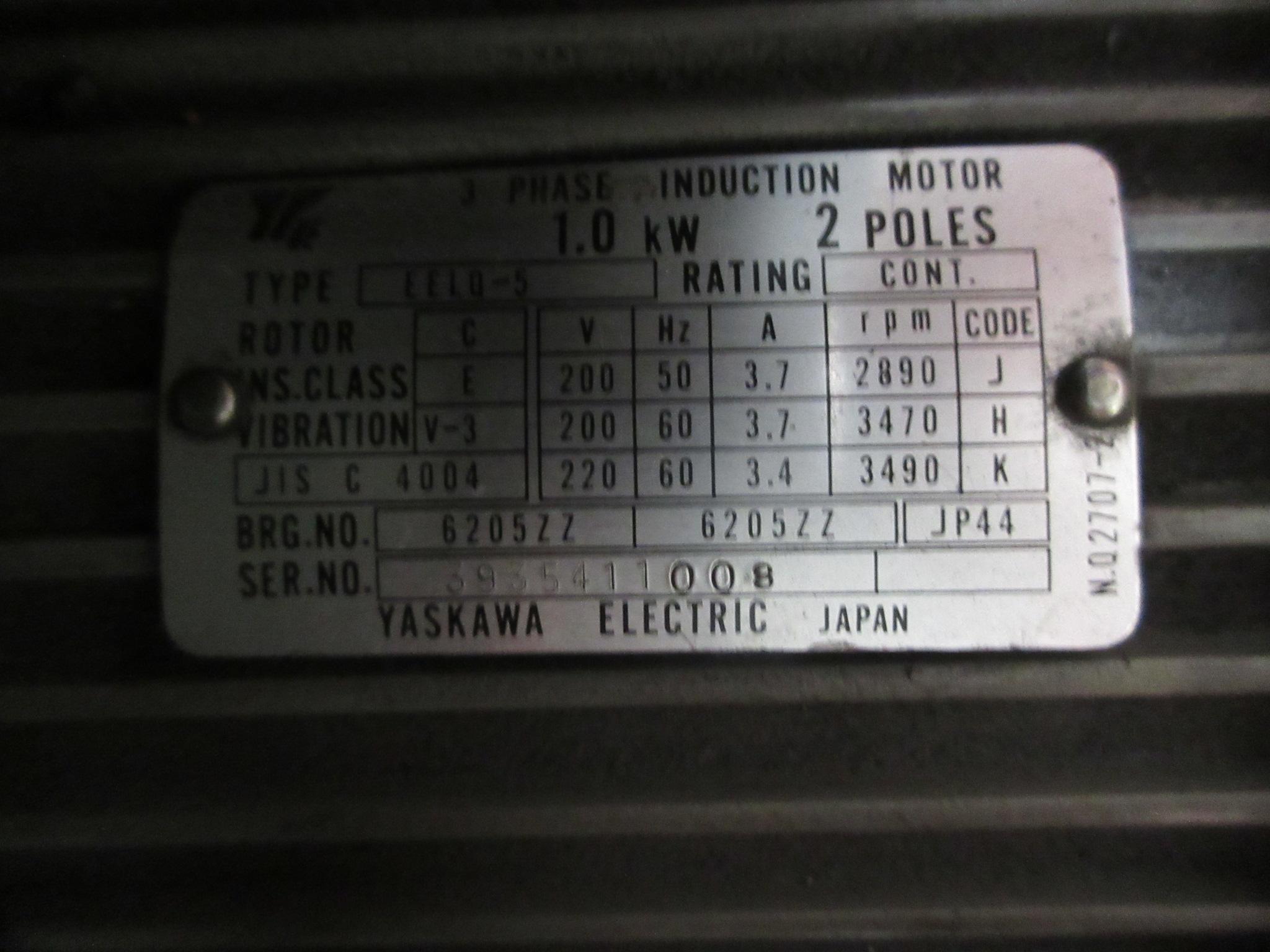 OS Walker Fine Pole Electric Chuck, Flood Coolant, Hand Feed