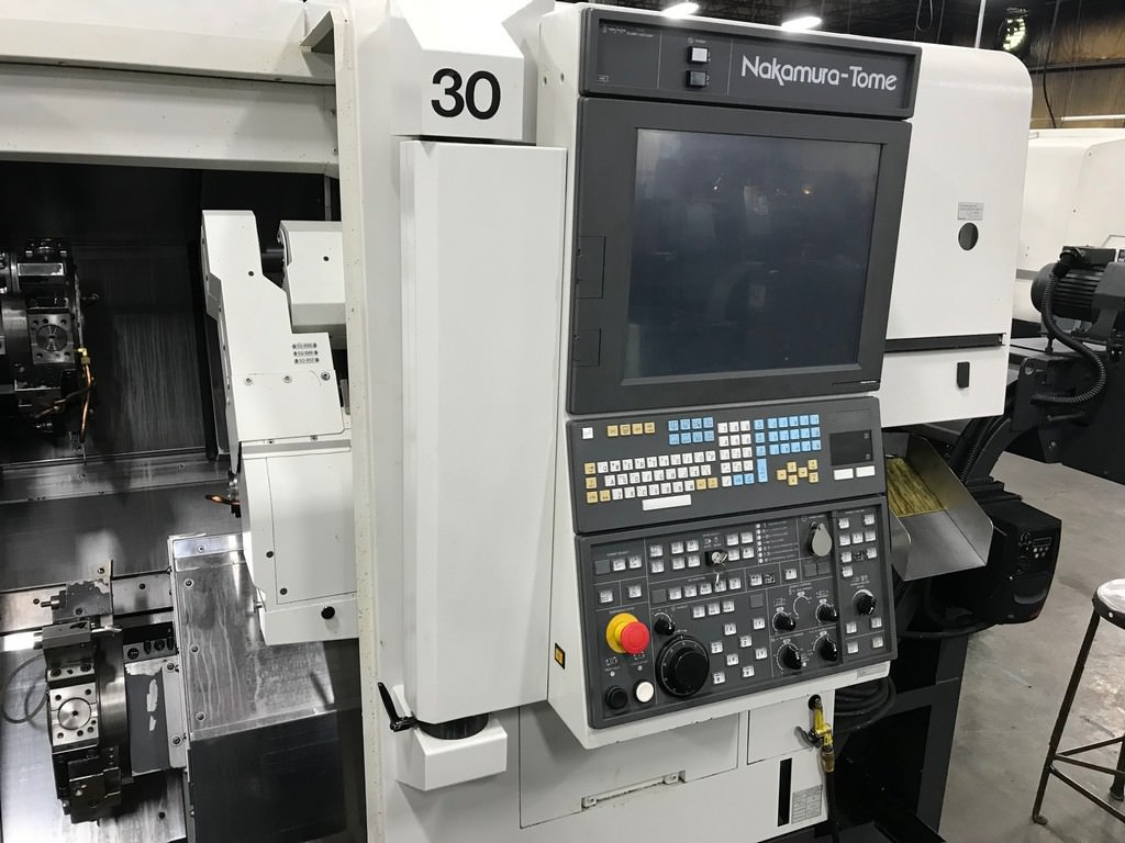 Nakamura Tome WT-100 9-Axis, Fanuc 31i CNC, (2) Spindles, (2) Turrets, Live Milling, '16, #30416