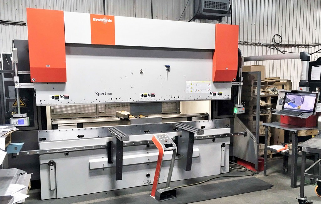 "Bystronic Xpert 100/3100, 110 Ton, 122"" OA, 108"" BH, 7-Axis Control, 4-Axis, Crowning, 2014 #30440"