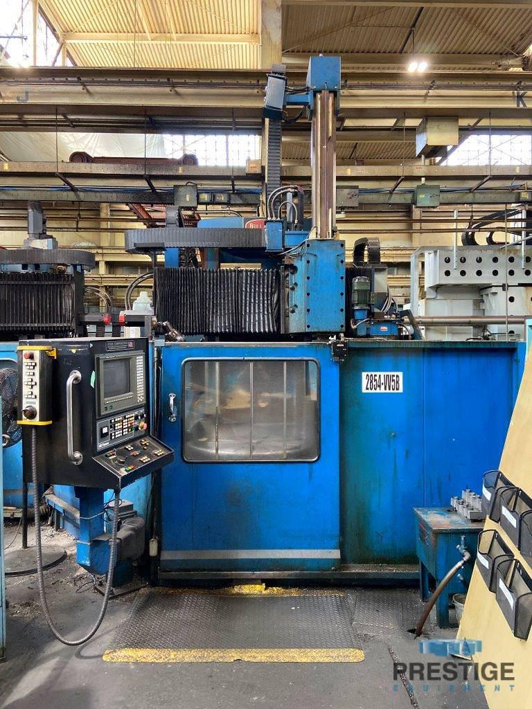 """46"""" Bullard CNC, RAM, 46"""" SWING, 44.5"""" U/R, FANUC 15TT CNC #31034"""