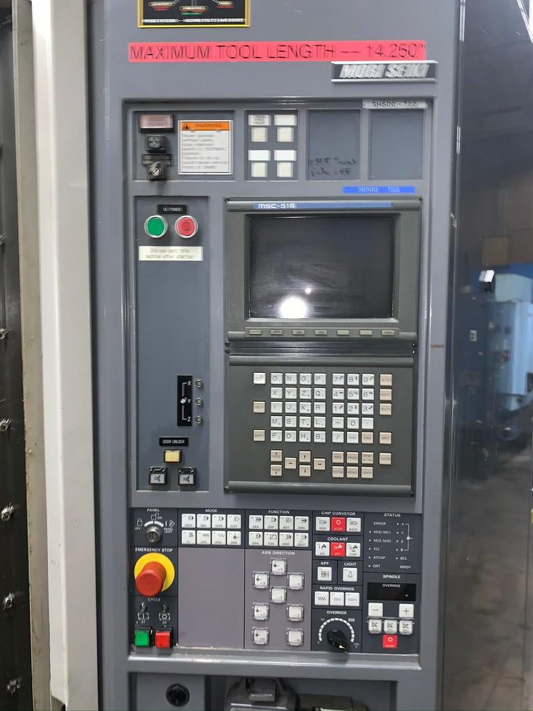 """Mori Seiki SH-500, X-24.8"""",Y-23.6"""",Z-25.6"""", (2) 19.7""""x19.7"""" Pallets, 12k RPM, 40-ATC, #30422"""