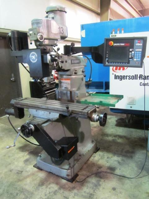 """Bridgeport 3-Axis CNC Knee Milling Machine with 9"""" x 42"""", 60-4200 RPM, 2 HP, R-8, Proto Trak SMX, New Control Installed 2012, Collet Holder, mfg.1982, #22235"""
