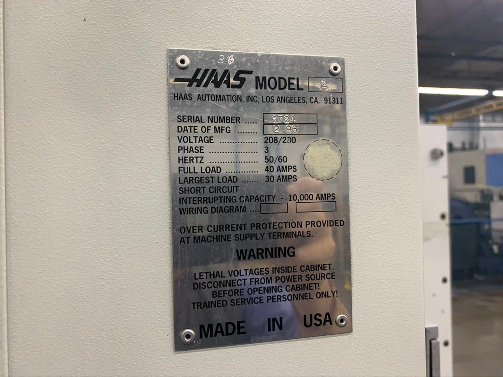 "Haas VF-2, X-30"", Y-16"", Z-20"", 7,500 RPM, 10"" x 36"" Tbl, BT40 Taper, 3,000 Lbs  #30421"