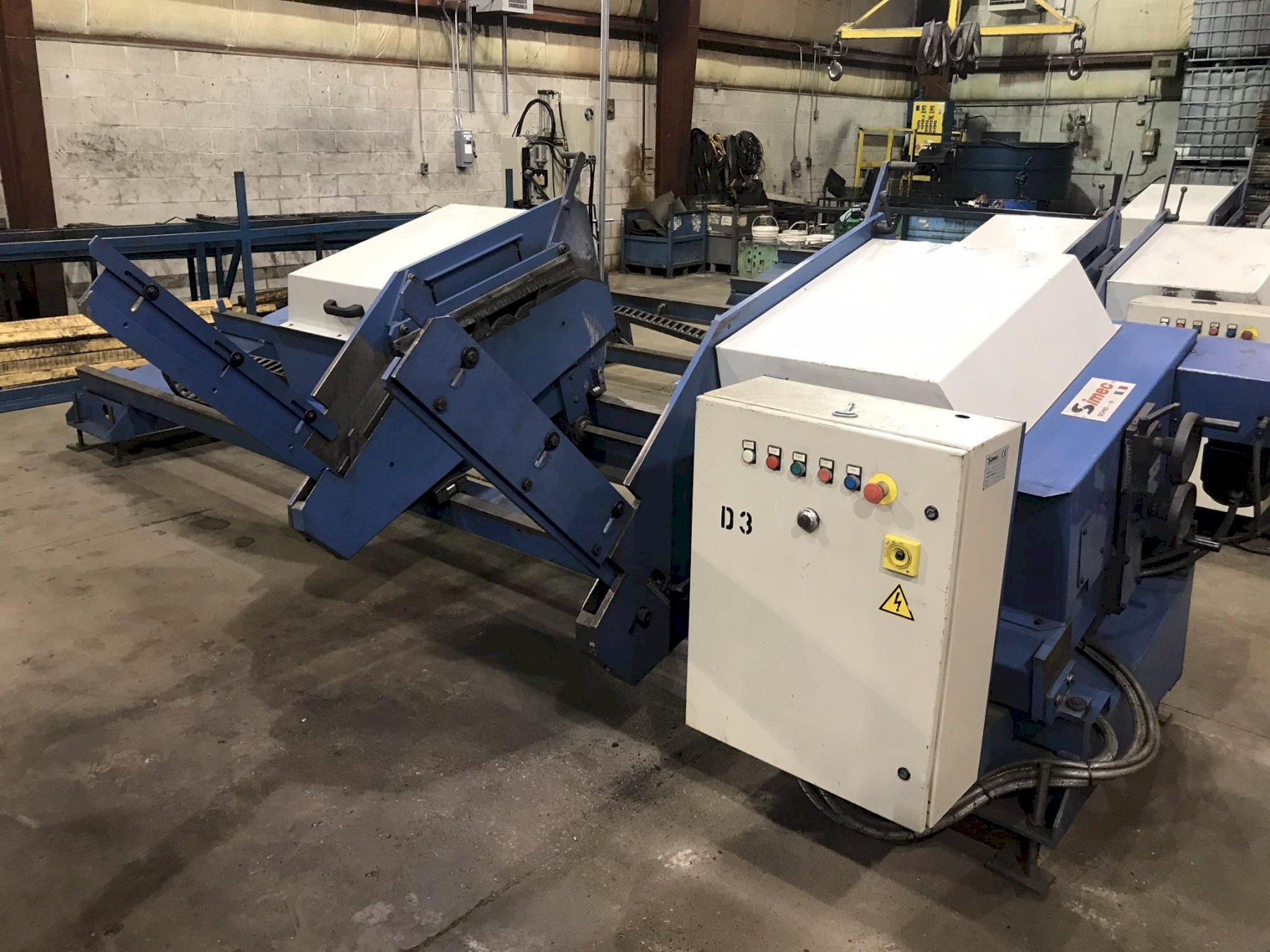 "USED SIMEC ADJUSTABLE LENGTH 4"" WIRE BRUSH DEBURRING MACHINE, MODEL SB3000S, Stock No. 10687, Year 2003"
