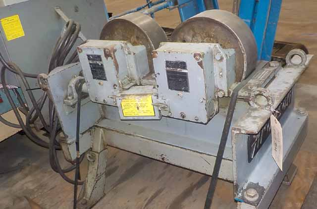 "20,000 lbs. Aronson WSD 10 and WSI 10 Steel Tire Tank Turning Roll, 12"" OD, 4""face, 6""-42"" dia. range, 1986"
