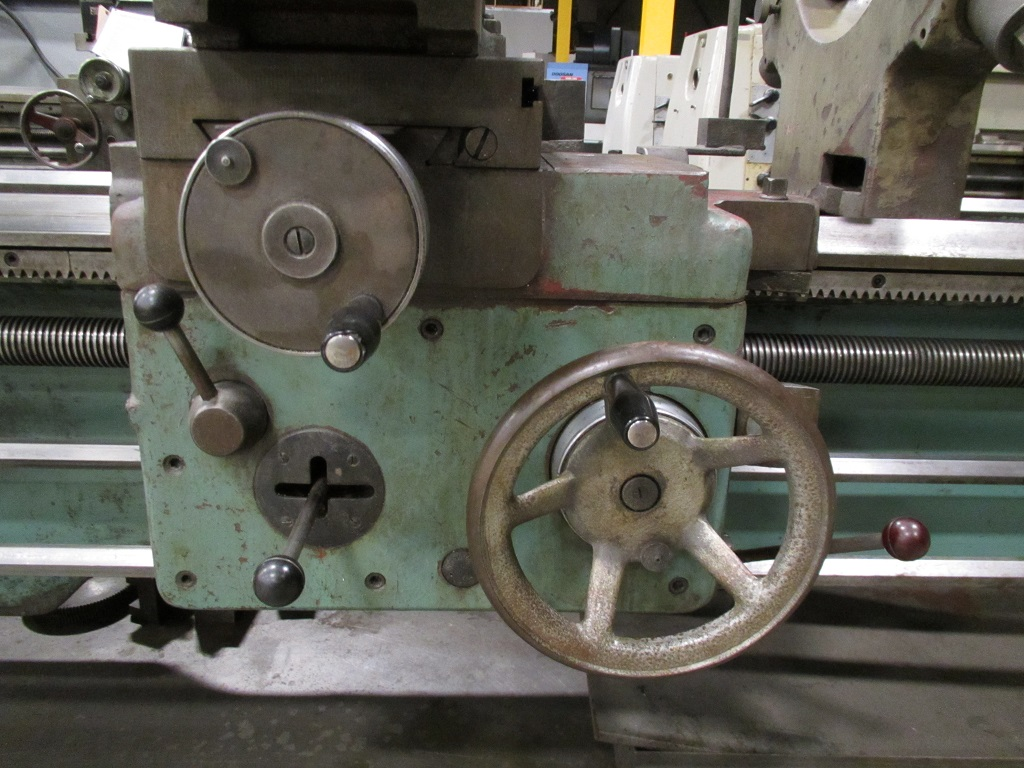 """TOS SN71B, Gap Bed, 28"""" Swg, 80"""" Ctrs, 2.81"""" Hole, 1k RPM, 20"""" 4-Jaw, QCTP, In/mm, 1982, JV-21132TK"""