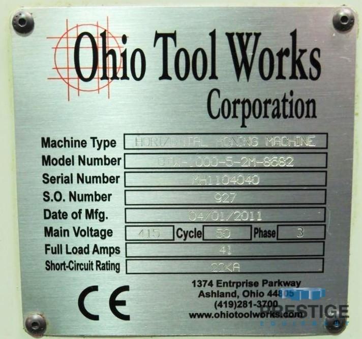 """OTW 1000-5-2M, .5"""" - 22"""" ID Cap., 23"""" Max. OD Cap, 78"""" Stroke, 3500 RPM Spdl, 100 FPM Stroke, OTW Op.Ctrl, 2011, #31186"""