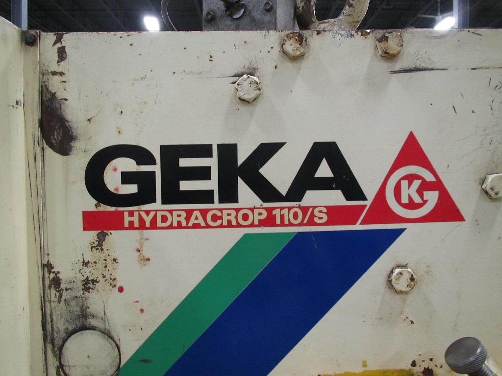 "Geka Hydracrop 110S, Hyd, 120 Ton, 1-1/2"" in 3/4"", 6"" x 6"" x .5"", 5 Stations, Punch & Die Set, 2006, TK-21151"