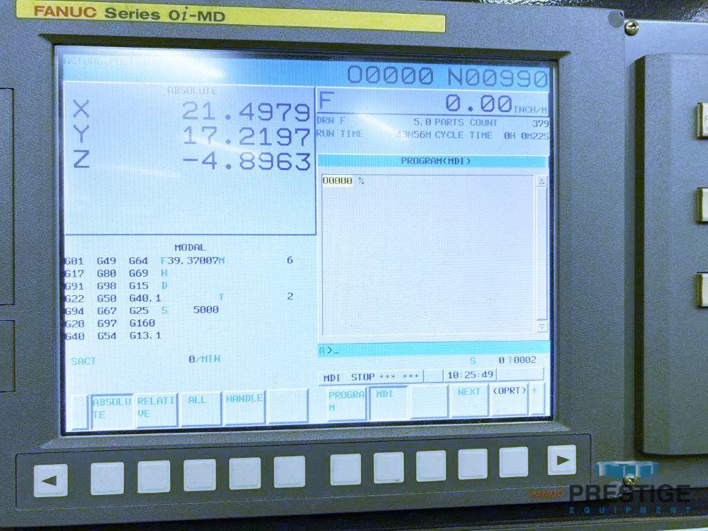 """Willis RTM100 """"Open"""", X-98"""", Y-35"""", Z-28"""", CAT 40, 24-ATC, Fanuc OiMD, 8000 RPM, 2015 #31290"""