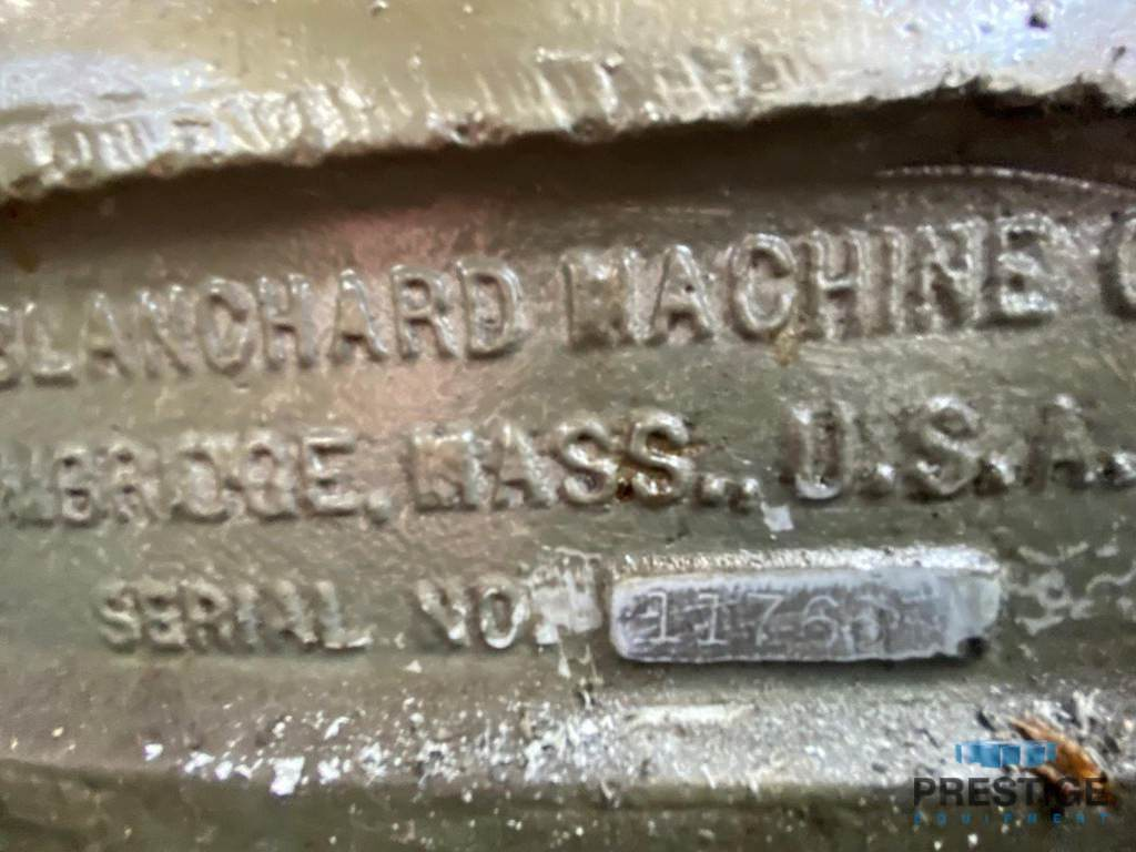 """60"""" Blanchard 32K60, 72"""" swing, 60"""" magnetic chuck, 30"""" vertical, 100 HP, S/N 11765, Chuck Life Almost New, #31041"""