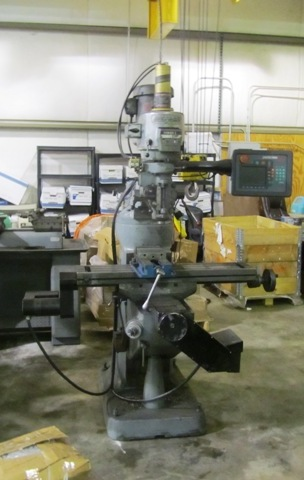 """Bridgeport Series 1 2-Axis CNC Knee Milling, 9"""" x 42"""" , 60-4200 RPM, 2HP, R-8, Variable Speed, Auto Lube, #22245"""