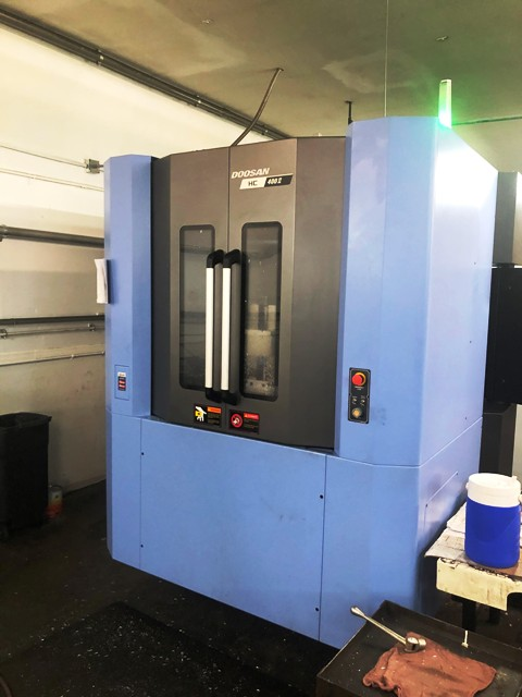 #22295 DOOSAN HC400II CNC Horizontal Machining Center, mfg.2018