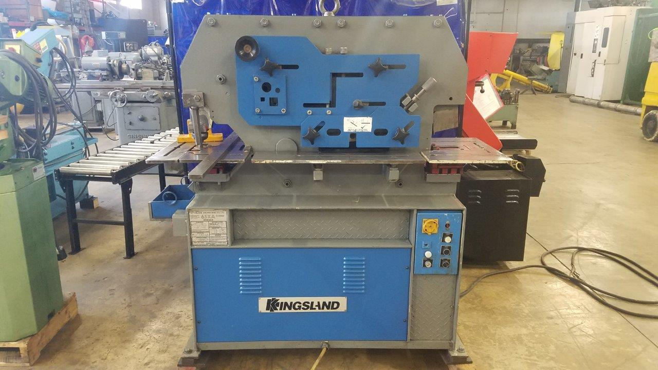 """65 Ton 5 Staion Hydraulic Ironworker, Coper/notcher, Angle Shear, Flat shear, Rod & bar shear & Punch, Extra punches, capable of 1, 1/16"""" through 5/8"""" mild steel"""