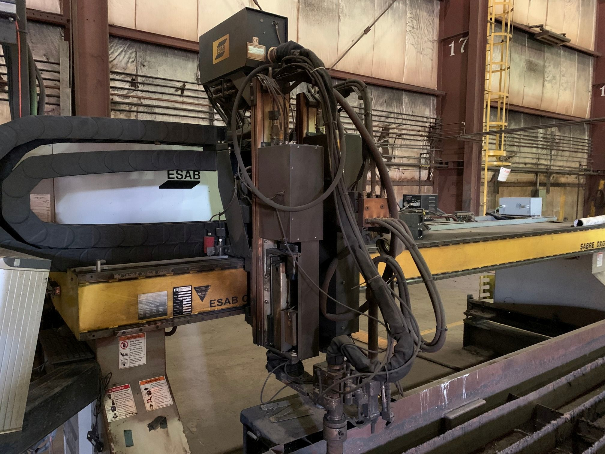 2012 Esab Sabre DXG4000 CNC Plasma Cutting Machine; S/N 0560947788