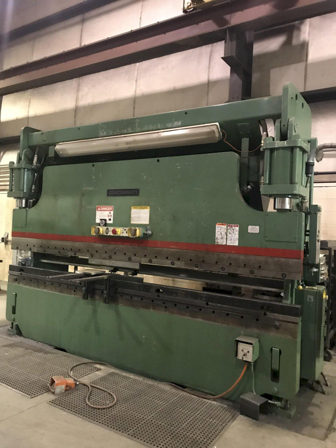 USED CINCINNATI MODEL 175CB-12 175 TON X 14' HYDRAULIC CNC PRESS BRAKE, YEAR 1994, STK# 10664