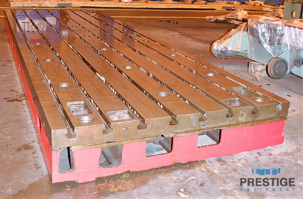 """78.74"""" x 236.22"""" x 15.74"""" T-Slotted Floor Plates, Cast Iron, (12 Available) #30985"""