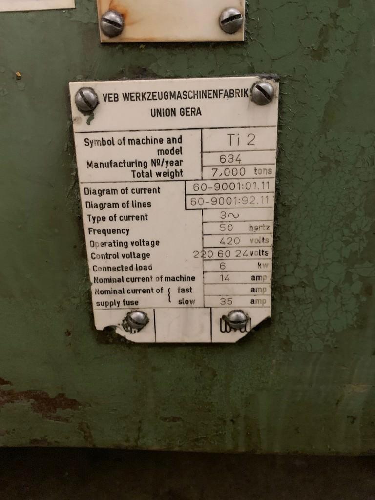 "71"" x 78"" Union TI-1800 Power Rotation, Power Infeed, Scales, 15 Ton Cap. '94 #26626"