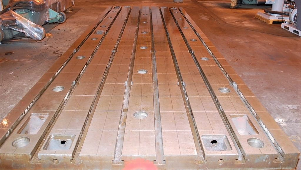 "78"" x 236"" x 15.74"" Thick T-Slotted Floor Plates, 8-Slots, Cast Iron, Matched,  (9) Available #30255"
