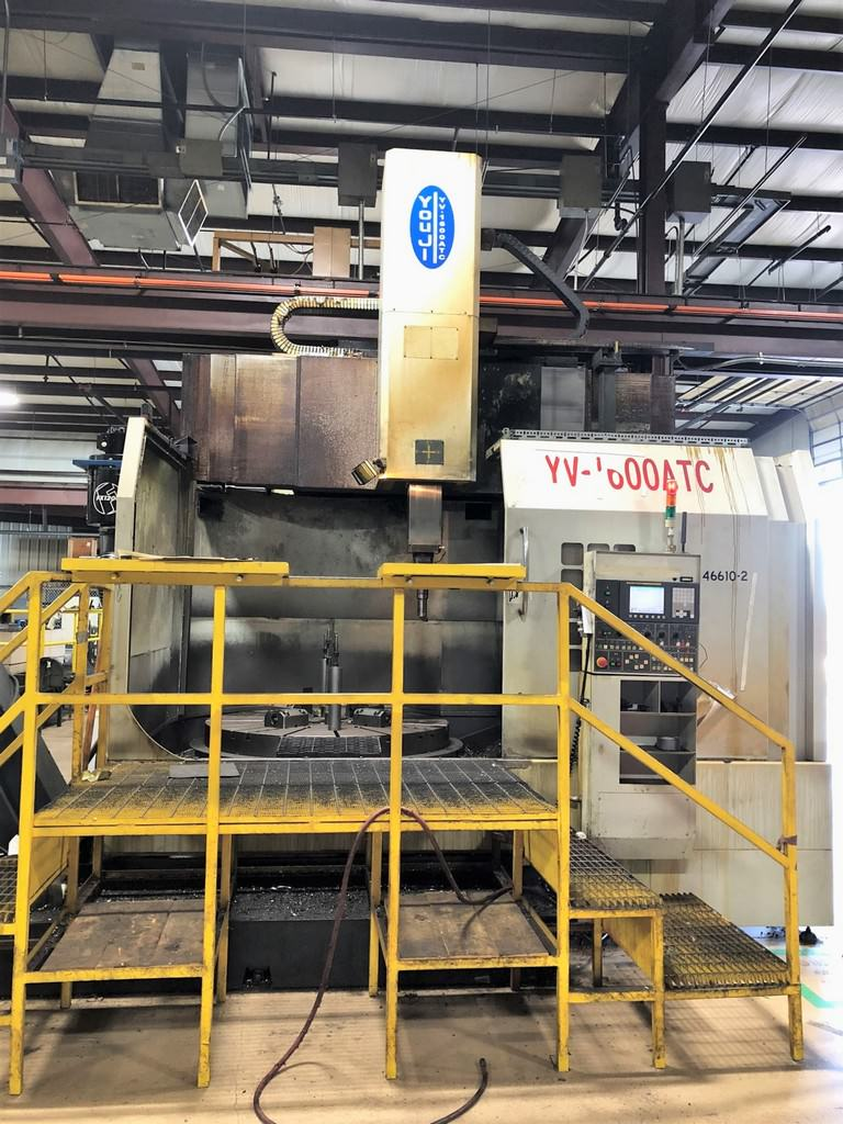 "63"" You Ji YV 1600 ATC, 12 ATC, 78"" Swing, 4-Jaw Table, Fanuc 0i-TC '06 #30374"