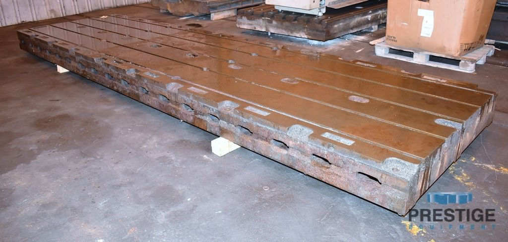 """60"""" x 218.75"""" T-Slotted, 10"""" Thick, 5 T-Slots, Leveling Bolts,  Cast Iron #30974"""