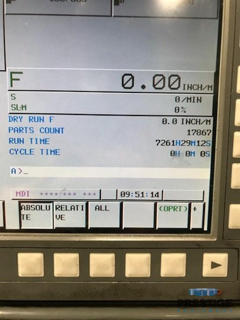 """Doosan 110S 4.33"""", X-78"""", Y-59"""", Fanuc 31i CNC, 40 ATC, TSC, 55"""" x 63"""" B-Axis Table, 2011, #31461"""